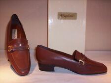 Napoleoni scarpe classiche mocassini casual donna tacchi pelle cuoio marroni 40