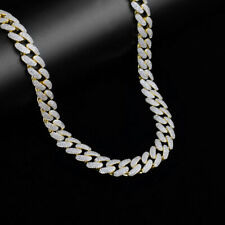 """""""Colt"""" 14K Yellow Gold Over Real Silver Custom Icy Miami Cuban Chain 12MM"""