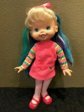 "Hallmark Special Edition Rainbow Brite 16"" doll 1996 Pink dress red shoes"