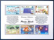 1990 Pitcairn Islands Stamps - Bicentenial Pitcairn Settlement - Mini Sheet MNH