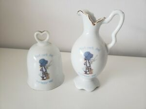 Vintage Holly Hobbie Vase And Bell - Excellent Condition
