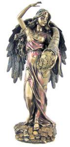 Greek Goddess Fortune / Tyche / Luck / Fortuna Cold Cast bronze statue 29.5cm