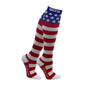 Go2 Holiday Compression Socks Unisex 16-22mmHg Patriotic Crawdad Taco Fun