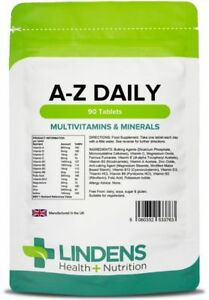 A-Z Daily 90 Tablets Multivitamin & Minerals Nutrition Lindens