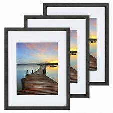 11x14 Picture Frame 3 Pack, with Detachable Mat for 8x10 Pictures, Wall Mounting