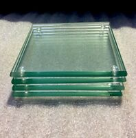 6mm Clear Glass Coasters Set Of 4
