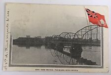 1906 Private Mailing Card New Iron Bridge, Pugwash, Nova Scotia/Flag Canada