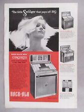 Rock-Ola Concerto Juke Box Phonograph PRINT AD - 1967
