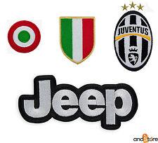 4 TOPPA PATCH JUVENTUS SCUDETTO ITALIA COCCARDA JEEP TERMOADESIVA RICAMATA