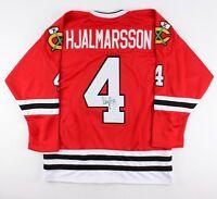 Niklas Hjalmarsson Signed Chicago Blackhawks Jersey (JSA COA)