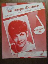 PARTITION MUSICALE BELGE ROSY DANY LE TEMPS D'AIMER