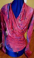 Ports International vintage blush tie dye pink back buttons  tunic top shirt 6