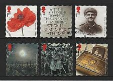 GB Stamps 2014 'Centenary of the First World War' - Fine used