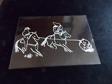 Team Roping Horse Decal Truck Trailor Car 5X7 Instruction To Apply Picture #2