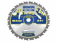 IRWIN IRW1897369 184 x 16mm 24-Teeth Weldtec Circular Saw Blade with ATB Tooth G