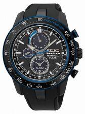 Seiko Herrenuhr Uhr Sportura Solaruhr Alarm Saphirglas Schwarz SSC429P1