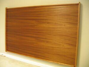 Headboard Mahogany Wood Scandinavian Sled Model