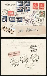 Switzerland 1931 - Registered Cover Bern to Austria & Return - Postage Due D418