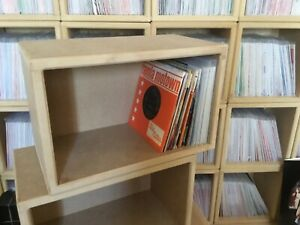 "7"" / 45's Vinyl Storage ~  Long Record Box Cabinet Case  ~ Brand New ~ FREE POST"