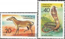 Turkmenistan 2-3 (kompl.Ausg.) postfrisch 1992 Fauna