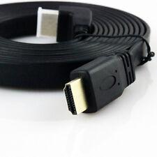 10m LONG FLAT HDMI Cable High Speed v1.4 FULL HD 4K 3D ARC GOLD BLACK