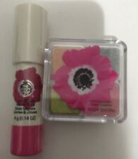 2 Pcs Bundle Body Shop Shimmer cubes 32 + Lip & Cheek Stick 20 Poppy Pink Rose