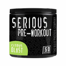 Serious Pre Workout Supplement  50 Servings Strong Nitric Oxide & Energy Citrus