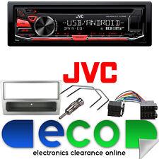 JVC CD MP3 RDS SINTONIZZATORE USB AUX IPHOD STEREO AUTO & Vauxhall Corsa Argento Fascia KIT