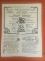 OZARK MUSIC MUSIC FESTIVAL MAIL IN TICKET FLYER JULY 1974 SEDALIA MO