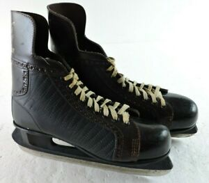 Vintage American Wildcat Mens Size 10 Hockey Ice Skates Made in Canada