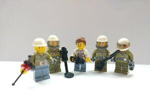 LEGO Volcano Explorers and Researchers Minifigures Bundle