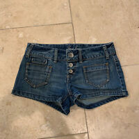 Guess Button Fly Utility Stretch Denim Shorts Womens (Size 26)