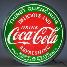 Coca-Cola Evergreen Back Lit Led Sign - Coke - Soda Fountain - Lamp - 15""