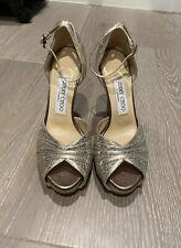 New Jimmy Choo Gold Metallic Stiletto Wedge Heel 36.5/6.5