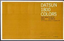 Nissan Datsun 1800 Laurel Colour & Trim 1970-71 UK Market Foldout Brochure