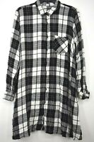 Old Navy Womens Button-Front Long Sleeve Comfort-Fit Plaid Long Shirt Dress XL