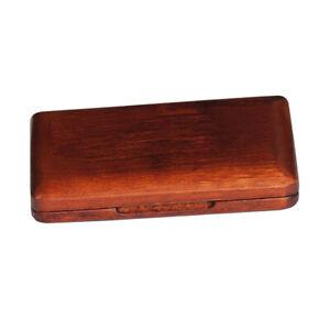 Wooden Dark Red Reed Storage Case Box for Clarinet Saxophone Accessories
