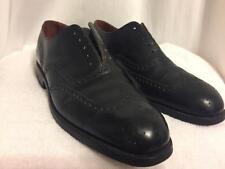 JC CORDING Wingtip BESPOKE Shoes Black Custom 9 C (US) Vintage Piccadilly