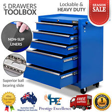 5 Drawers Mechanic Tool Box Chest Storage Cabinet Trolley Roller Garage Toolbox
