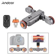 Andoer Motorized Pulley Car Dolly Rolling Rail Slider for Cell Phone Camera W4L4