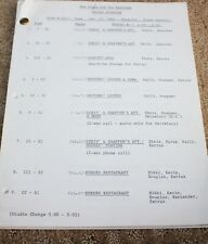 THE YOUNG AND THE RESTLESS SOAP OPERA TV SERIES SHOW SCRIPT