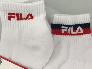 Women's FILA Socks, White Quarter Crew Athletic Socks, 6 Pack, $36 MSRP 🎾🎒⛳️