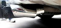 Steel Exhaust Muffler Tip Pipe Cover Trim 1PC For Toyota Prado J150 2010-2018
