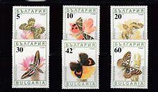 a137 - BULGARIA - SG3699-3704 MNH 1990 BUTTERFLIES & MOTHS
