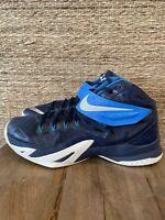 Nike Zoom Lebron Soldier 8 Basketball Shoes Royal Blue Men's Size 13