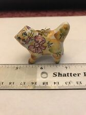 Coy Fat Cat Hand Painted Ceramic Ornament Figure- Russia- Free Shipping