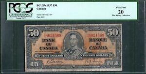 Canada BC-26 $50 1937 PCGS 20 Rare