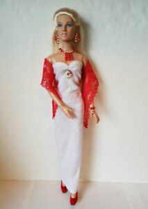 "OOAK Tyler Doll Clothes Lace WRAP, GOWN and JEWELRY for 16"" Fashion NO DOLL d4e"
