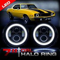 LED Angel Halo Xenon HID Look Headlights For 1967 to 1981 Chevy Camaro