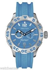 Nautica Men's N16607G Blue Dial Bfd 100 Multi Rubber Band Watch